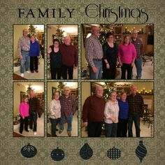 Family Christmas scrapbook layout using My Digital Studio software from Stampin' Up!