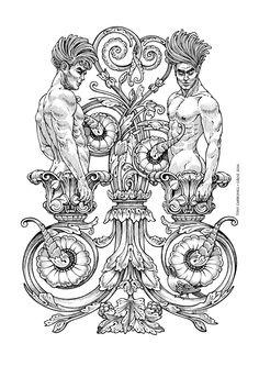 Zodiac Gemini, #Dibujos e #Illustrations de Tony Carbonell #Cadiz