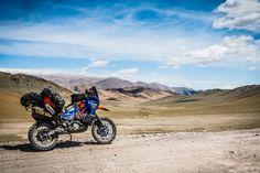 KTM 990S travelling through Mongolia