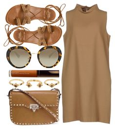 """""""Istanbul"""" by monmondefou ❤ liked on Polyvore featuring Valentino, Prada, Becca, House of Harlow 1960, Stuart Weitzman, P.A.R.O.S.H. and brown"""