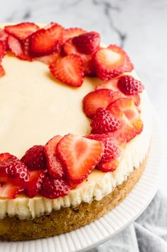 My favorite recipe for keto cheesecake.  It's rich, creamy, and completely low carb!  This New-York style cheesecake is keto-friendly and has no added sugar, but you'd never guess with how amazing it tastes!