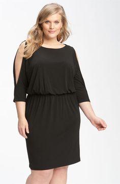 Calvin Klein Cold Shoulder Matte Jersey Dress (Plus)   Nordstrom