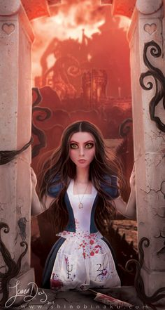 This is cool, she could be framed by a window of some kind? Alice Madness by Shinobinaku.deviantart.com on @deviantART