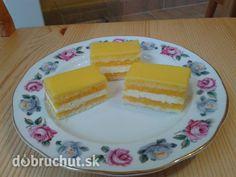 Sunquickové rezy International Recipes, Tiramisu, Cheesecake, Deserts, Dessert Recipes, Pudding, Eggs, Baking, Breakfast