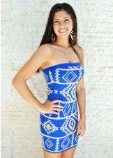 YA YL13518 Aztec Printed Tube Dress--Rissy Roos
