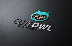 Cute Owl Logo by Creative Dezing on @creativemarket