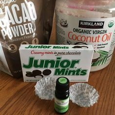 Recently I adapted a recipe to make a much healthier version of Junior Mints. There is no sugar and the cream is made with healthy coconut ingredients.