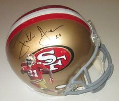 SOLD OUT! Frank Gore signed SF 49ers Riddell full size football helmet w/ proof photo.  Proof photo of Frank signing will be included with your purchase along with a COA issued from Southwestconnection-Memorabilia, guaranteeing the item to pass authentication services from PSA/DNA or JSA. Free USPS shipping. www.AutographedwithProof.com is your one stop for autographed collectibles from San Francisco sports teams. Check back with us often, as we are always obtaining new items.