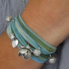 #lifeinstyle & #greenwithenvy  Clovelly Hand-Dyed Silk - $89 : Talisman Jewellery Online, Affordable Luxuries