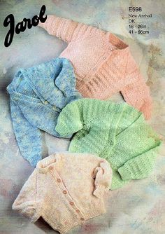 Jarol Knitting Patterns for Baby Baby Knitting Patterns, Free Knitting, Knitted Baby, Knit Crochet, Baby Jumpers, Uk Images, Baby Cardigan, Baby Design, Free Pattern