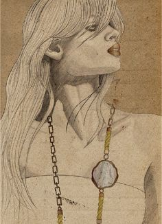 Wonderful jewellery illustration on @Cathryn May