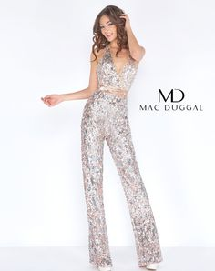 26be4b3db21 Be fun   flirty in the fully sequined v-neck open back jumpsuit. From Dress    Party