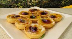 Lavender creme brulee tarts
