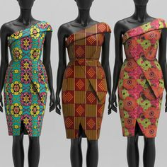 Robe africaine une épaule impression faite sur commande: