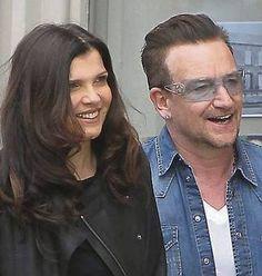 Bono and his wife Ali Hewson #u2newsactualite #u2newsactualitepinterest #u2…