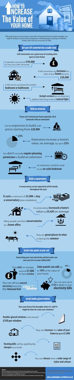 How to Increase the Value of Your Home   #Infographic #RealEstate #Home #HowTo