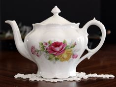 Small Porcelain Teapot, Antique Tea for Two Tea Pot, Made in Germany 13639