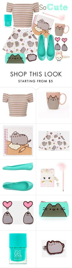 """Cute Pusheen."" by susanarsegura ❤ liked on Polyvore featuring Miss Selfridge, Pusheen, Kartell, Nails Inc. and cutekawaii"