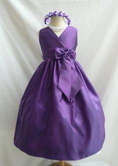 Flower Girl Dress  PURPLE VNeck Dress with Matching by LuuniKids, $34.50 @Lindsay Callahan