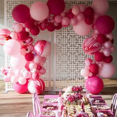 Love this set up our raspberry balloons. At little something we did for the beautiful @sheis_sarahjane  Gorgeous frame backdrop by @thebigletterco and florals by @marymarystudio  Photography @_stephbrown_