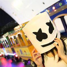 Compre Festa EL Halloween Marshmallow Dj Chapelaria Marshmello Máscara De Látex Material De Látex Cabeça Cheia Capacete Máscara Bar Music Party Adereços Máscara De China_smoke, $179,72 | Pt.Dhgate.Com