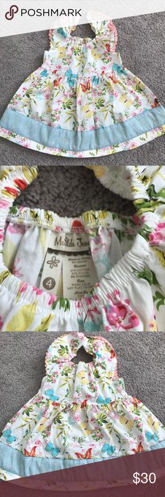 Matilda Jane Size 4 All A Flutter Peasant Top Girls Matilda Jane All A Flutter Peasant Top. Size 4. Gently used. No stains or holes. Super adorable on! Wonderful Parade Collection Matilda Jane Shirts & Tops