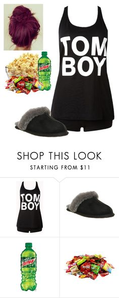 """Leigh-Ann movie night outfit"" by remington-offical ❤ liked on Polyvore featuring Forever 21 and UGG Australia"