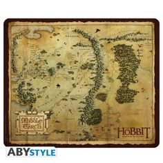 THE HOBBIT Tapis de souris The Hobbit Carte Terre du Milieu