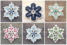 снежинки из фетра, как сделать снежинку из фетра, мастер класс снежинки из фетра