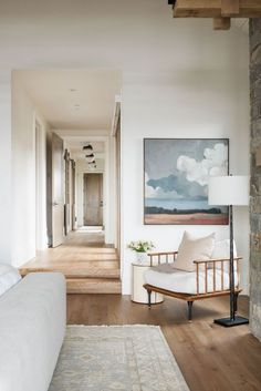 SM Ranch House: The Master Suite – Interiors Big Blank Wall, Blank Walls, Living Room Decor, Living Spaces, Beige Living Rooms, Transitional Living Rooms, Suite Principal, Flur Design, Design Design