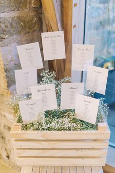 Crate Table Plan - Cripps Barn Healey Wedding | Image by Sarah-Jane Ethan…