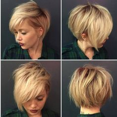 """Mi piace"": 7,060, commenti: 370 - Short Hairstyles   Pixie Cut (@nothingbutpixies) su Instagram: ""How bout triple shot for @katiezimbalisalon"""