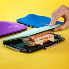 Sanduicheira em silicone se adapta a forma dos alimentos e os mantém frescos