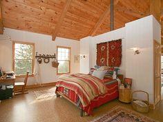 converted barn bedroom, nice