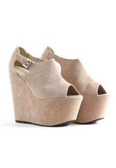 nude wedges