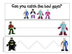 FREEBIE, download the batman pre-school pack --other worksheets and sorting as well
