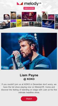 80213d39ad9923 Liam Payne has partnered with Melody VR. They put out a virtually reality  experience of