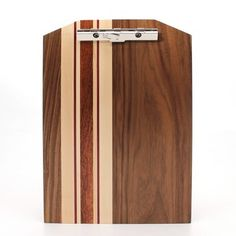 Standard Walnut Striped Clipboard-9x13