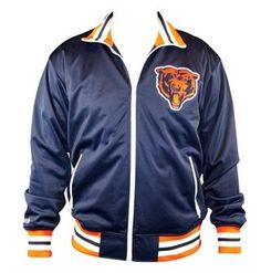 Chicago Bears Navy Mitchell & Ness Pre Season Warmup Track Jacket