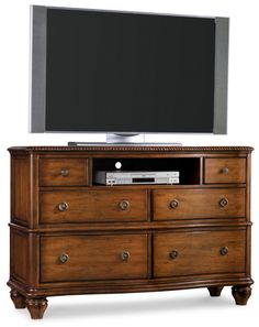 Hooker Furniture Primrose Hill Bedroom Media Dresser in Villa Brown 5059-90117