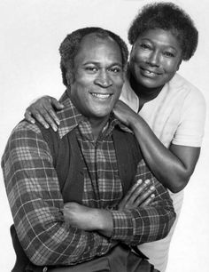 American actors John Amos as James Evans Sr and Esther Rolle as Florida Evans in a promotional portrait for the US TV sitcom 'Good Times' 1974 Black Tv Shows, Old Tv Shows, Black Actors, Black Celebrities, Celebs, Good Times Tv Show, John Amos, Vintage Black Glamour, Vintage Tv