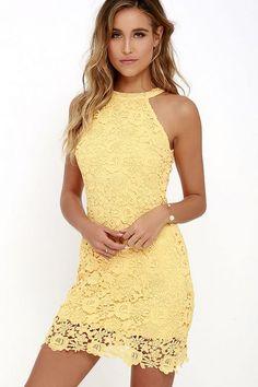 Halter Neck Sleeveless Lace Dress //Price: $31.00 & FREE Shipping //     #sale