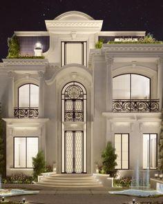 67 dream house interior design ideas to inspire you 1 Mansion Interior, Dream House Interior, Luxury Homes Dream Houses, Classic House Exterior, Classic House Design, House Outside Design, Front Porch Design, Villa Design, Conception Villa