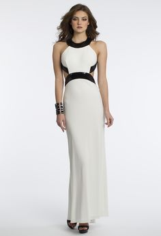 Jersey Sequin Cut Out Dress from Camille La Vie and Group USA