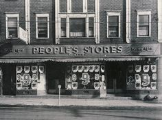 Glace Bays Peoples Store, Glace Bay, Cape Breton, Nova Scotia, 1953 | Photographs And Memories, Cape Breton, Nova Scotia Glace Bay, Bay Photo, Photographs And Memories, Celtic Culture, Cape Breton, Nova Scotia, Family History, North America, Places To Visit