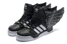 693c2e2ccba23 Adidas Jeremy Scott Wings 2.0 - Black White Kevin Durant Basketball Shoes