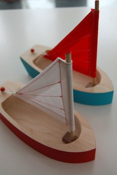Wooden Toy Sailboat by EstellaGraham on Etsy