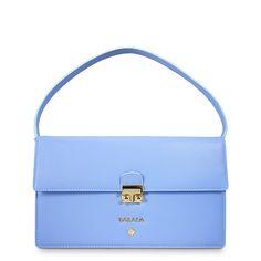 Bolso de Piel - Bolso de Hombro Colección Astrea en Napa, Color Azul