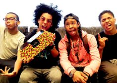 What you see above should be blowing your mind right about now. It's a picture of Mindless Behavior's Prodigy, Princeton, Ray Ray and Roc Royal (one of our favorite boy bands) holding a...