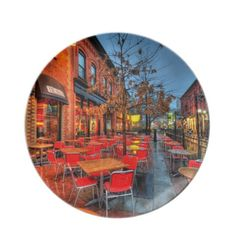 Street Reflections Party Plates